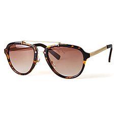 100% UV400 Women's Aviator Alloy Retro Sunglasses