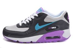 huge discount af714 1acc4 Agréable Nike Air Max 90 Essential Sombre Gris Turquoise Pourpre Femme