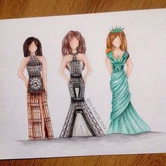 Eiffel Tower Big Ben or Statue of Liberty?  Creative Art by @my_drawings_xoxox - Via @arts.gallery by art_spotlight