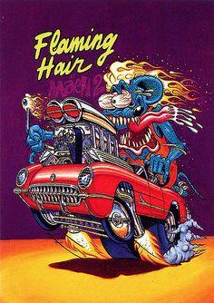 Rat Fink Ed Big Daddy Roth - Flaming Hair Mach 2   brocklyncheese   Flickr