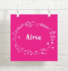 This floral custom baby girl name art comes with the name of your favorite girl! Available in many colors to match your nursery palette. WHAT DO I GET? ♡ This printable comes as a PDF in two sizes: 8x10 and 10x10. ♡ The print size can be enlarged or reduced without losing image quality. ♡ A printable is a digital file only. No physical item will be shipped. HOW DOES IT WORK? ♡ Choose the background color from the drop down menu. See photo #5 for color reference. ♡ Include the childs name in…