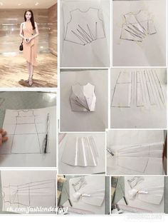 """Новости """"From design to pattern: from the basic dress shape to drape to pattern"""" Pattern Cutting, Pattern Making, Dress Sewing Patterns, Clothing Patterns, Fashion Sewing, Diy Fashion, Sewing Clothes, Diy Clothes, Sewing Tutorials"""