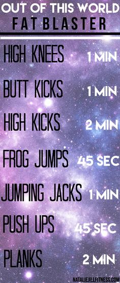 Fat Blasting fun! It's time to get it in! Click the image for more fun fat blasting workouts!
