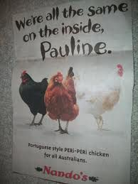 funny chicken against racism advert...