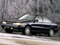 This is a Hyundai Elantra (1990 – 1995), I owned(by marriage) a 1988 version. Can't find a pic on Pinterest, that should tell u something. Worst car ever owned.Don't hit a pothole or the tire rim will bend!