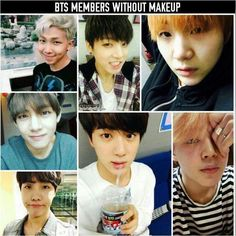 Barefaced bangtan is the best bangtan ❤️ they all still look freaking gorgeous without makeup!