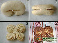 Butterfly Brioche with Pan-brioche. Cute Food, Yummy Food, Pie Crust Designs, Macedonian Food, Bread Shaping, Bread Art, Braided Bread, Russian Recipes, Beignets