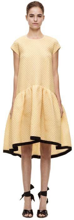 Victoria Beckham Oversized Skirt Dress Spring 2014...I love this and I loved it on VB:)