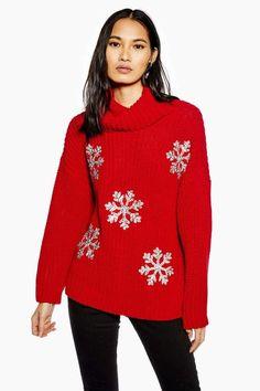 1d6714ada1f Christmas Glitter Snowflake Jumper - Shop All. Tenue SalopetteTenues  CardiganTenue Nouvelle AnnéeMode NoëlPulls À Col RouléChandails De  NoëlFlocons De Neige