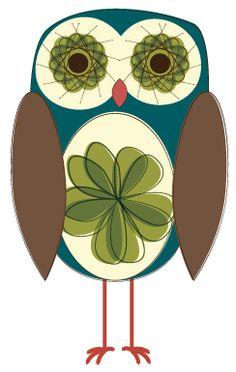 Day 186: Retro Color Blend Owl