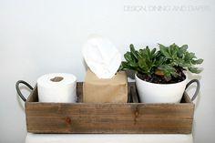 Modern Farmhouse Bathroom Decor via designdininganddiapers.com