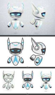 Flying Robot Cartoon Character