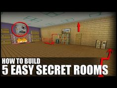 5 Easy Ways To Build Secret Rooms In Minecraft - YouTube