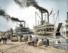 Steamboats on the Mississippi River 1907