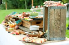 Rustic Crates, Marble Slabs, Wooden Sewing Machine Drawers