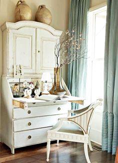 Antique desk - re-paint mine white...