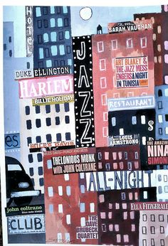 Harlem New York landacape strada di ghetto Jazz di edavy63 su Etsy, $8.99