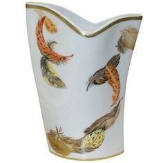 "french vase | Home > Catalog > French porcelain vase > French Vase ""Plumes"""