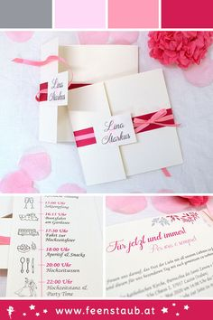 Individual wedding invitation in pink and pink cream, square pocket invitation Individual wedding invitation in the colors pink, pink, silver and cream. Designed as a square pock Pocket Invitation, Invitation Cards, Wedding Invitations, Save The Date Karten, Wedding Colors, Wedding Planning, Pink, Cream, Pocket Square