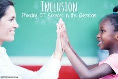 What it means to provide Occupational Therapy services in a classroom. Inclusion services are important for addressing a child's skills right where they use them most!