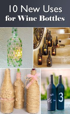 1000 ideas about repurposing bottles jrahasznos t s for Creative ideas for empty wine bottles