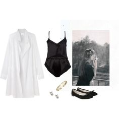 Untitled #207 by bittealt on Polyvore featuring moda, La Garçonne Moderne, Marika Vera, Repetto and TARA Pearls