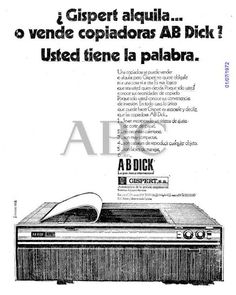 Copiadoras AB Dick. Gispert. Año 1972.