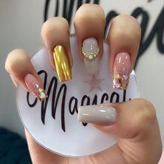 Pedicure Designs, Nail Art Designs, Simple Elegant Nails, Coffen Nails, Sweater Nails, Best Acrylic Nails, Nail Swag, Perfect Nails, Short Nails