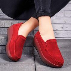 Pantofi dama piele naturala rosii Parisa-rl Loafers, Casual, Shoes, Fashion, Travel Shoes, Moda, Zapatos, Moccasins, Shoes Outlet