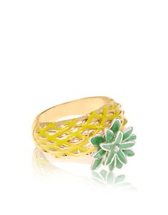 Bague motif ananas | Jaune | Accessorize