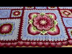 My 'Rose of Avalon' Crochet Blanket Ta-Dah Vlog - Pattern by Helen Shrimpton / Deramores - YouTube