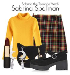 """""""Sabrina the Teenage Witch"""" by sparkle1277 ❤ liked on Polyvore featuring Skinnydip, Topshop, Mimco and Witch Worldwide"""