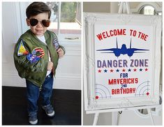 Birthday Boy + Welcome Sign from a Top Gun Themed Birthday Party via Kara's Party Ideas   KarasPartyIdeas.com (21)