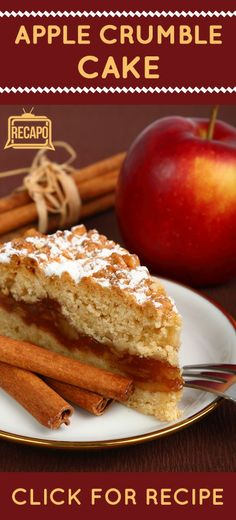 This Apple Crumble Cake is a great recipe for a Holiday dessert. It's simple to make and sure to please all of your guests!