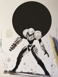 ArtStation - Metroid and other Sketches, Alexander J