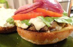 "VeganMoFo: Bobby Flay and The Eggplant Crunchburger   The ""V"" Word"