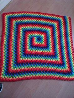 fantastic crochet rainbow spiral baby blanket