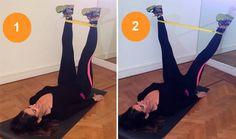 Exercícios com elástico para deixar as coxas torneadas