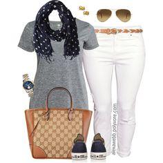 Plus Size - Simple Sunday by alexawebb on Polyvore #alexawebb #outfit @alexandrawebb