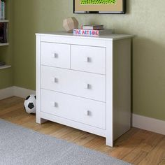 CorLiving Madison 4 Drawer Dresser Color: Snow White