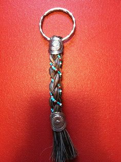 Beaded Keychain made from Authentic Horse by OcalaCountryVentures  $9.99