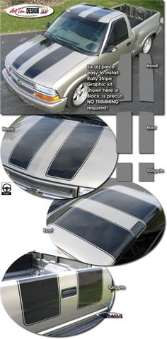 Rally Stripe graphic kit for Chevrolet S-10 Truck from Auto Trim DESIGN