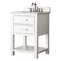 Brooks White 24 Inch Vanity Only Avanity Vanities Bathroom Vanities Bathroom Furniture