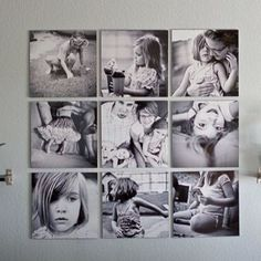 canvas collages | Canvas photo collage | Cute Ideas for Home