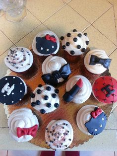 Girly fashion cupcakes