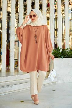 Summer Tunics, Summer Shirts, Muslim Dress, Hijab Dress, Dress Tops, Tunic Tops, Long Sleeve Tunic, Bat Sleeve, Islamic Fashion