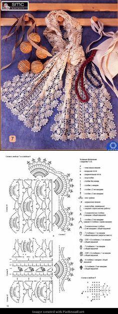 gorgeous lacy irish crochet scarf - created via http://pinthemall.net. Bello!  fotocopiato.