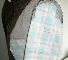 Tips on how to make sure plaids match horizontally at the front of a jacket/shirt/thing. | via SewRuth