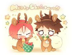 Merry Christmas ... From nrmimi_ ... Free! - Iwatobi Swim Club, free!, iwatobi, rin matsuoka, matsuoka, rin, sousuke, yamazaki, sousuke yamazaki