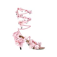 Spring 2010 Fashion Trends – Kate Lanphear's Spring Picks on ELLE.com ❤ liked on Polyvore featuring shoes, sandals, heels, pink, high heels, decorating shoes, pink shoes, embellished shoes, pink sandals and high heel sandals